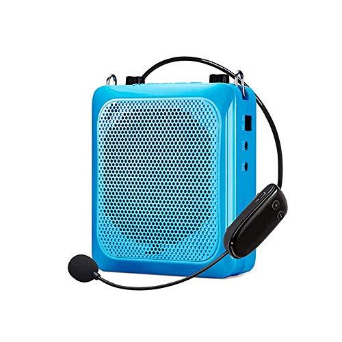 Atten Wireless Amplificador de Voz, Personal Micrófono Amplificador con Tarjeta y Auricular con micrófono, amplificadores portátiles for Profesores Guías de Entrenadores (Color : Blue)