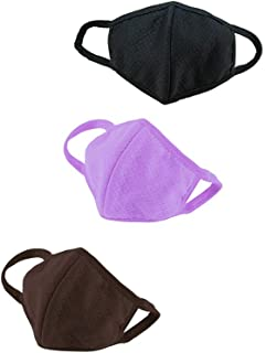 yueton Pack of 3 Unisex Health Cycling Anti-dust Cotton Mouth Face Masks Respirators
