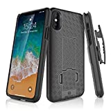 WizGear iPhone X/XS Holster Case, Slim Shell Holster Combo Case for Apple iPhone X/XS/iPho...