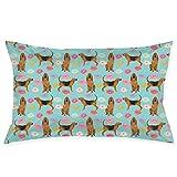 Bloodhound - Funda de almohada para perro, tela para mascotas, color azul claro, 50,8 x 76,2 cm