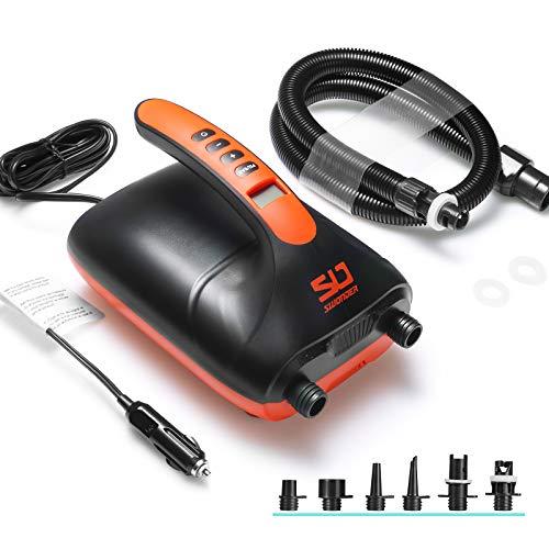 Swonder 20PSI Digital Elektrische Hochdruckluftpumpe für SUP Stand Up Paddle Board | Kajak | Zelt Schrittweise Schnell Aufpumpen & Abschaltautomatik