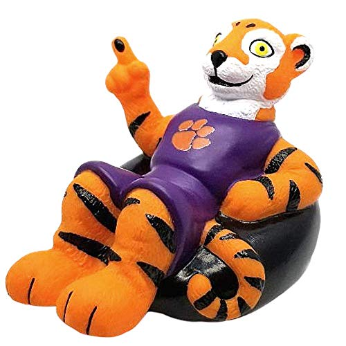 Rubber Tubbers Clemson University - Premium Bath Toy Collectible Sports Memorabilia - First Ever Collectible Line of Licensed Floating Collegiate Mascots (Clemson Tigers | Clemson The Tiger)