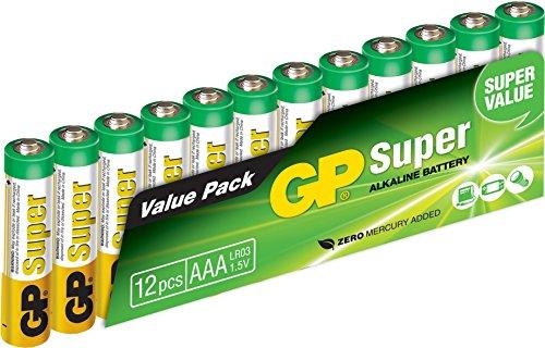 GP GP24A-2VS12 LR03 Super Alkaline AAA Micro Batterie (12-er Pack)