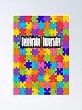 Situen Celebrate Diversity Colorful Puzzle Design Poster – Per la decorazione della sala giochi, stampabili per bambini, arte da parete della stanza dei bambini, decorazione stampabile Aldult