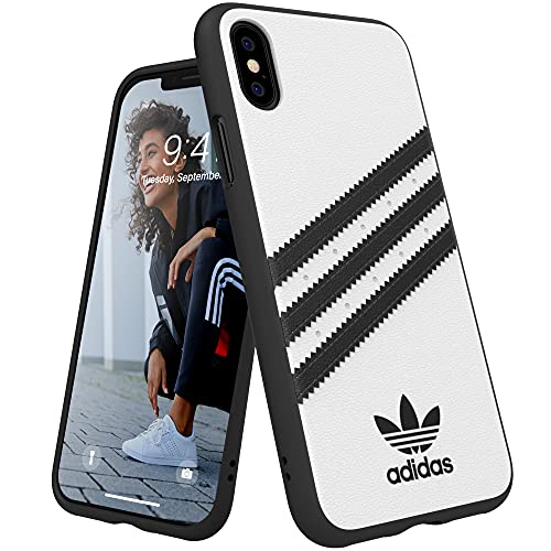 Adidas Originals - Custodia modellata per iPhone X/XS, colore: Bianco/Nero