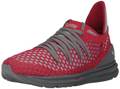 PUMA Men's Ignite Limitless Netfit Sneaker, Quiet Shade-Toreador, 10.5 M US