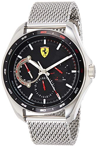 Scuderia Ferrari Reloj Analógico para Hombre de Cuarzo con Correa en Acero Inoxidable 0830684