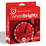 Brightz WheelBrightz LED Bike Wheel Spoke Lights, Red, 1 Wheel Light – LED Bike Lights for Bicycle Tires – Best Fun Outdoor Stocking Stuffer Birthday Gift for Kids, Teens, Adults