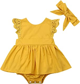 OCEAN-STORE Toddler Baby Girls 6 Months-5T Long Sleeve Solid Tassel Dress Outfit Dresses Clothes