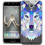 Caseink - Coque Housse Etui pour Wiko U Feel Prime [Crystal Gel HD Polygon Series Animal - Souple -...