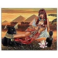 1000ピースパズル古代エジプトの建物とフィギュアアートレジャーゲームおもちゃ家の装飾75X50cm