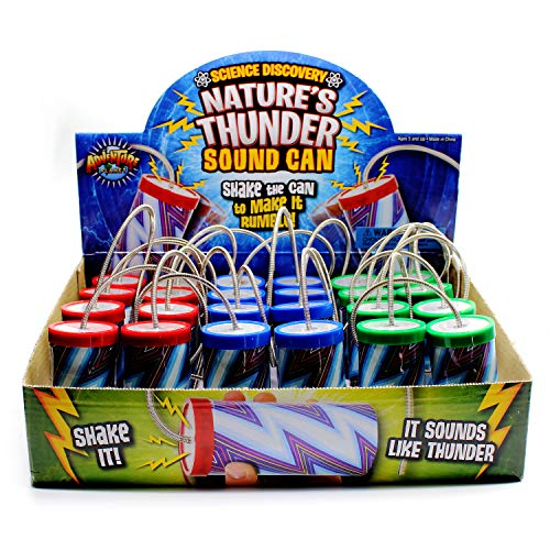 Kicko Thunder Can - 24 Pack - 3.5 Inch - for Kids, Party Favors, Stocking Stuffers, Classroom Prizes, Decorations, Birthday Supplies, Holidays, Pinata Fillers, Novelties and Rewards