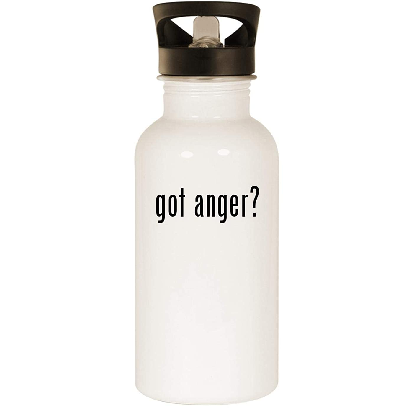 got anger? - Stainless Steel 20oz Road Ready Water Bottle, White