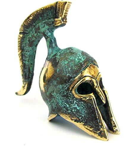 IconsGr Antiguo Museo de Bronce Griego Réplica de Casco Oficial Espartano (387)