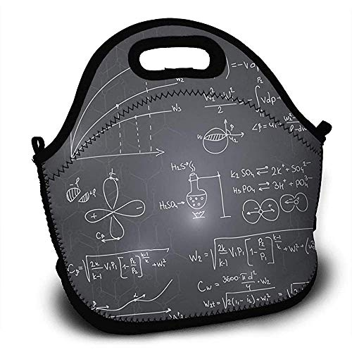 Lunch Tote Wiskundige Formule Op Blackboard Lunch Boxen Lunch Tote Lunch Bag Verstelbare Handtas Schouder Strap Jongens Meisjes Tieners Lunch Rugzak Kids