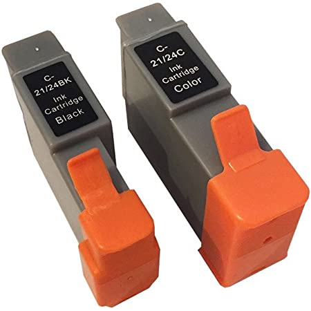 3年保証 キャノン (CANON)用 BCI-21 / BCI-24 互換インクカートリッジ ブラック + カラー 2個セット 0954A001 / 0955A001 / 6881A001 / 6882A001 ベルカラー製