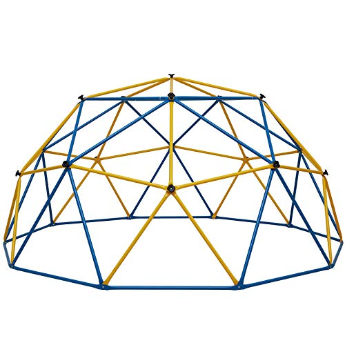 Albott Geometric Dome Climber 10' x 5' – Rust and UV Resistant Steel Frame Outdoor Kids Jungle Gym – 800lbs Weight Capacity – Safe for 1-6 Kids Climbing Dome