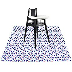 Turtle and coral mat for under high chair