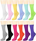 12 Pairs Women's Crew Socks (12 Assorted) 446-4-B96004