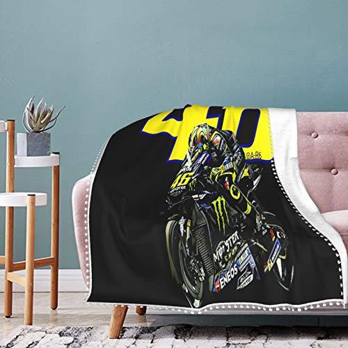 Valentino Rossi - Manta suave para bebé recién nacido, muy acogedora, manta cálida para cama de guardería, para todas las estaciones 50 x 40 pulgadas