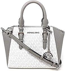 top rated Michael Kors Ciala Medium Saffiano Leather Shoulder Bag Light White 2021