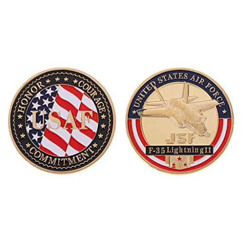 Yeioxiue United States Air Force F-35 Fighter Commemorative Coins for Military Funs