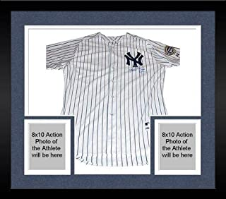Framed Mark Teixeira Yankees Authentic Home Jersey w/Inaugural Season Patch (Signed on Front) (MLB Auth) - Steiner Sports Certified
