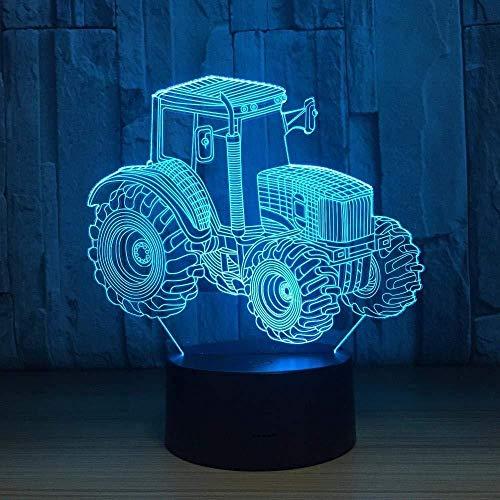 3D nachtlampje tractor landbouwLED 3D licht deco auto USB Touch Light 7 kleurrijke nachtlamp voor kinderen cadeau voor een jaar voor kinderen