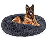 Dog Bed, Calming Dog Bed, Anti-Anxiety Donut Dog Cuddler Bed, Washable, Waterproof Non Slip Bottom Faux Fur Pet Bed,Multiple Sizes S-XL