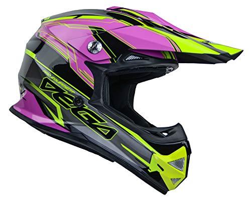 Vega Helmets 36099-364 Unisex-Child Youth Off Road Helmet (Pink Stinger Graphic, Large)