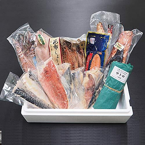 築地魚群 築地魚群 海鮮セレクトセット 松 漬け魚・干物・炭火焼き・マグロなど特選海鮮セット!