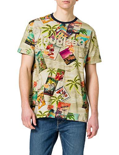 Desigual TS_Caton Camiseta, marrón, XXL para Hombre