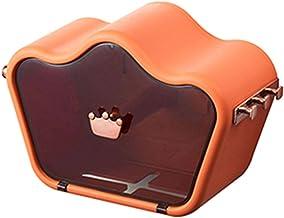 Toiletrolhouder, zelfklevend, wandmontage toiletrolhouder, met waterdichte en stofkap, van toepassing rolpapier-Oranje