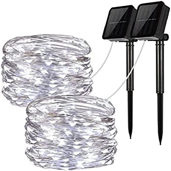 LiyuanQ 100 LED Solar String Fairy Lights