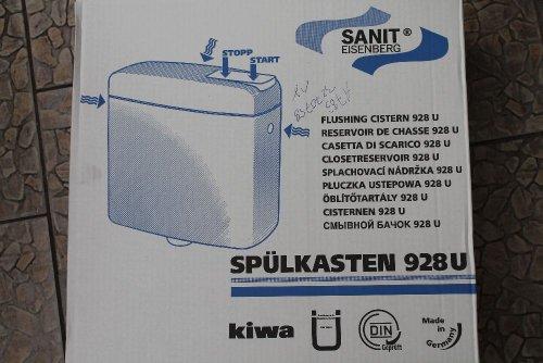 Sanit WC-Aufputz-Spülkasten weiss 928 U tiefhängend, mit Wasserspartechnik 6-9 L