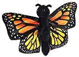 Wild Republic Huggers Butterfly Monarch Plush Toy, Slap Bracelet, Stuffed Animal, Kids Toys, 8'