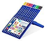 Staedtler 156SB12 Ergosoft Watercolor Pencil in Staedtler Box - Set of 12 Colors