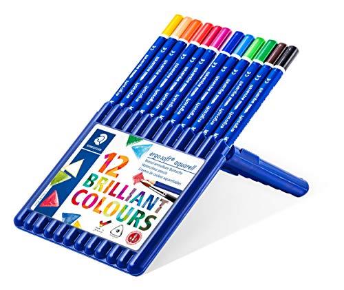 Staedtler ErgoSoft Aquarell Watercolor Pencils, Assorted Colors, Set of 12
