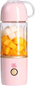 LILICHIC Portable Blender Rechargeable USB Juicer Cup Bottle Fruit Juicer Mini Juicer Lemon Orange Citrus Juicer 400ML