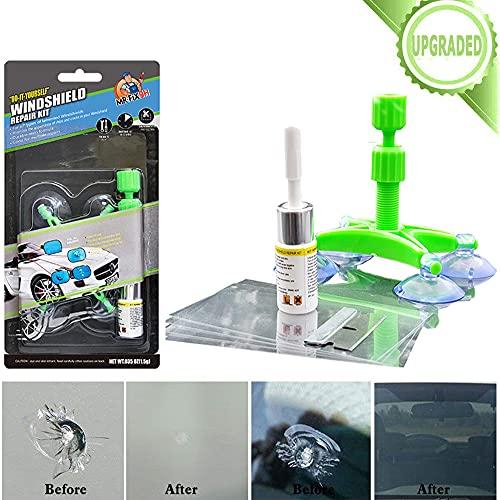 Car Windshield Repair Kit, Upgraded Auto Windshield Repair Kit with Windshield Repair Resin for Chips and Cracks, Bulls-Eye, Spider Web, Star-Shaped, Nicks, Do it Yourself Windshield Repair Kit