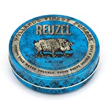 REUZEL Blue Pomade, Strong Hold, Water Soluble, 4 oz.