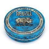 Reuzel - Blue Strong Hold Water Soluble Pomade - Natürliche Öle - Beruhigende Vanille - Hoher Glanz - Superkonzentrierte Formel - Behält die Geschmeidigkeit ohne zu verhärten oder abzublättern - 4 oz/113 g