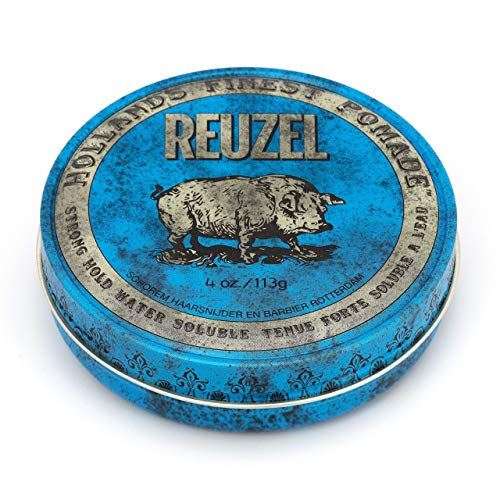 Reuzel - Blue Strong Hold Water Soluble Pomade - Natural Oils - Calming...