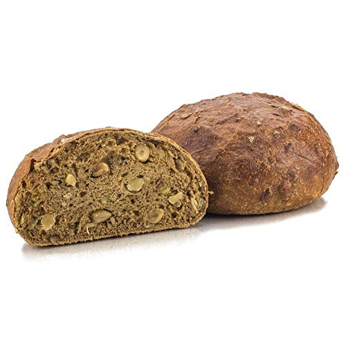 Vestakorn Handwerksbrot, Nussbrot 400g - frisches Brot – gebacken nach 24 Stunden Teigruhe, selbst aufbacken in 10 Minuten