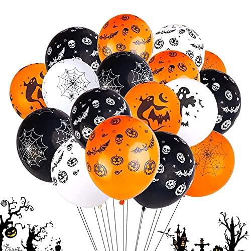 Zestaw 100 sztuk balonów dekoracyjnych na Halloween, BESTZY balony na Halloween, zestaw balonów na Halloween, balony lateksowe, na imprezę halloweenową bar artykuły dekoracyjne do domu