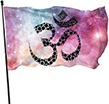 Oaqueen Flagge/Fahne, OM Flag: 3x5 FT Flag Tough The Strongest, Longest Lasting Flag National Flag Outdoor Flags