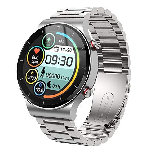BNMY Smartwatch Reloj Inteligente Hombres Mujer con Monitor De Sueño Presión Arterial Pulsómetros 1.3Inch Pantalla Táctil Impermeable IP67 Reloj Deportivo Caloría Podómetro para Android iOS,C