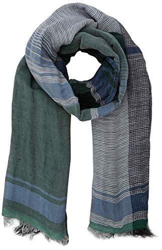 camel active Herren 407180 Schal, Grün (Green/White 38), One Size (Herstellergröße: OS)