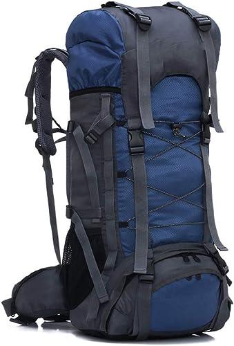 CXJC Sac à Dos De Randonnée 60L Pédestre Nylon Water Resistang Randonnée Camping Travel Alpinisme pour Les Voyages Trekking Voyage Sac à Dos,bleu
