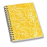 RADANYA Abstract Digitally Printed Notebook Yellow Wire Bound Paper Sheet A5 Sheet Diary School or Office Stationary Acceossories